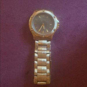 Jules Jurgensen Men's Two Tone Quartz Watch!!